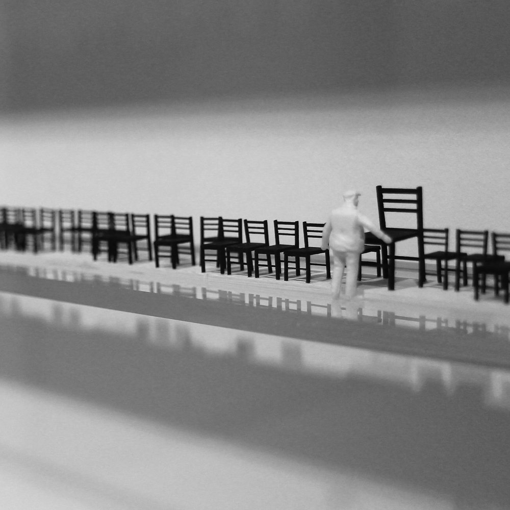 Juanita Oosthuizen  Musical Chairs (detail)  Mixed media  27 x 124 cm