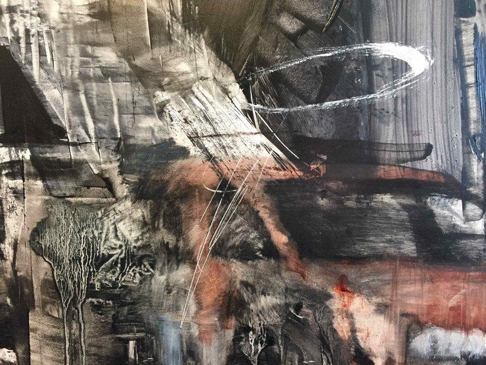 Chris Valentine  ShadowLands 2 detail  Oil on panel