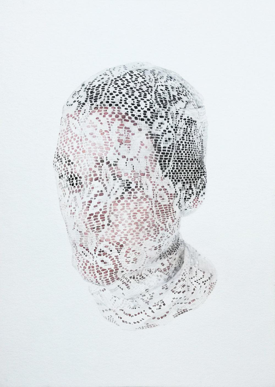Ilené Bothma  Under threat of exposure VI  Watercolour on paper  31 x 21.5 cm
