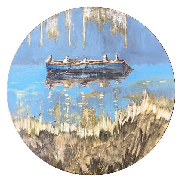 Lizza Littlewort  Dissolving in the morning sun  Oil on board  35 x 35 cm