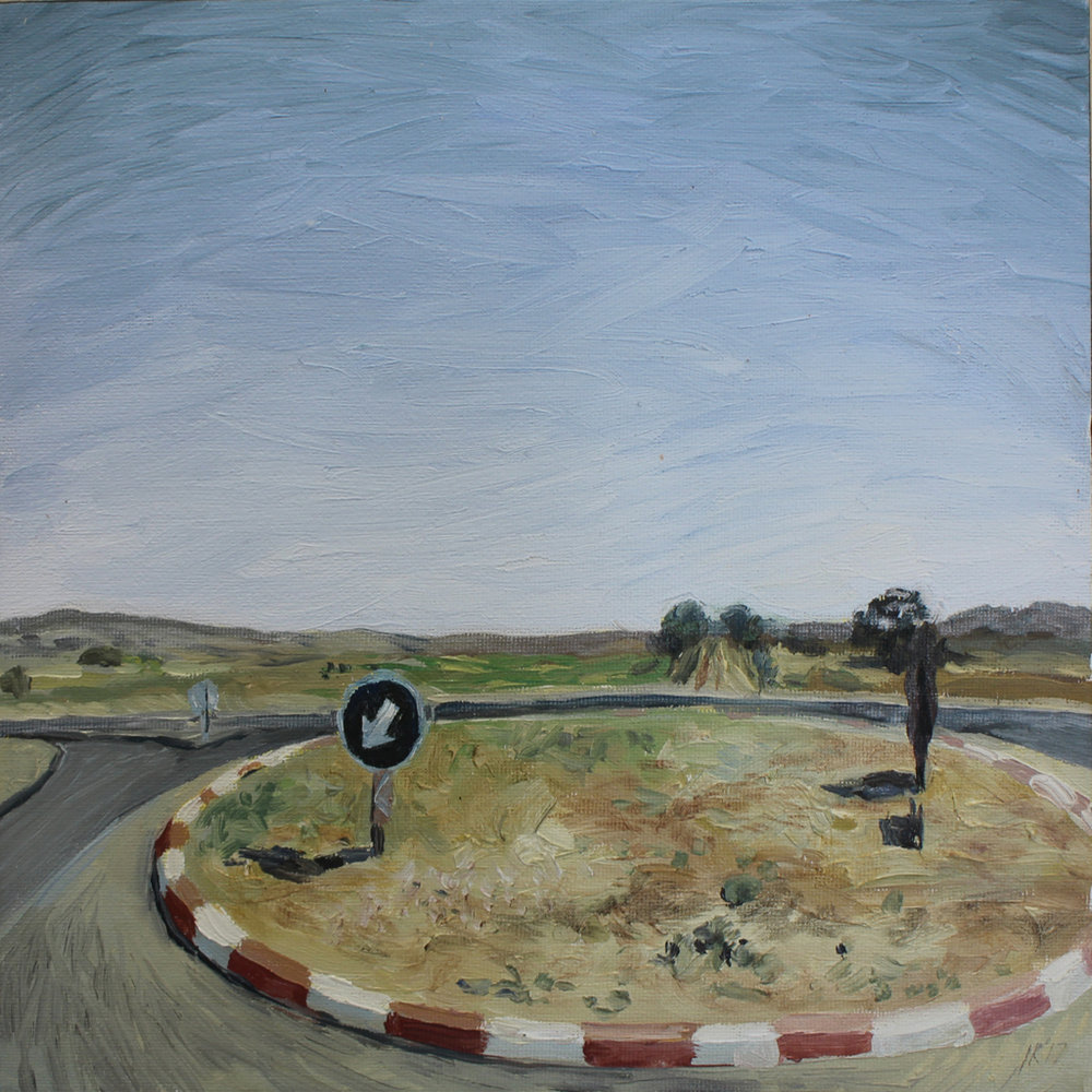 Isabella Kuijers  I still drive past your house (Cradle of Humankind) , 2017  Oil on canvas  25 x 25 cm