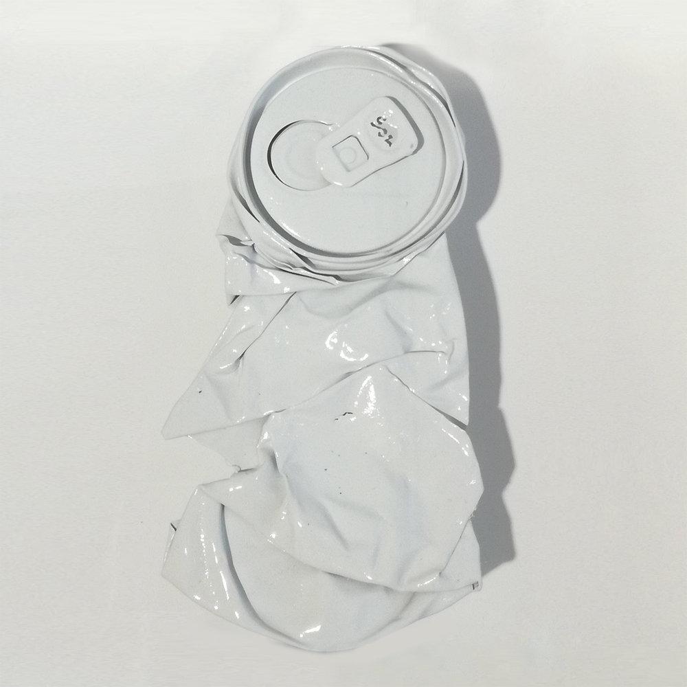 Richard Mason  RM00417A  Spraypaint & flattened can  16 x 16 cm