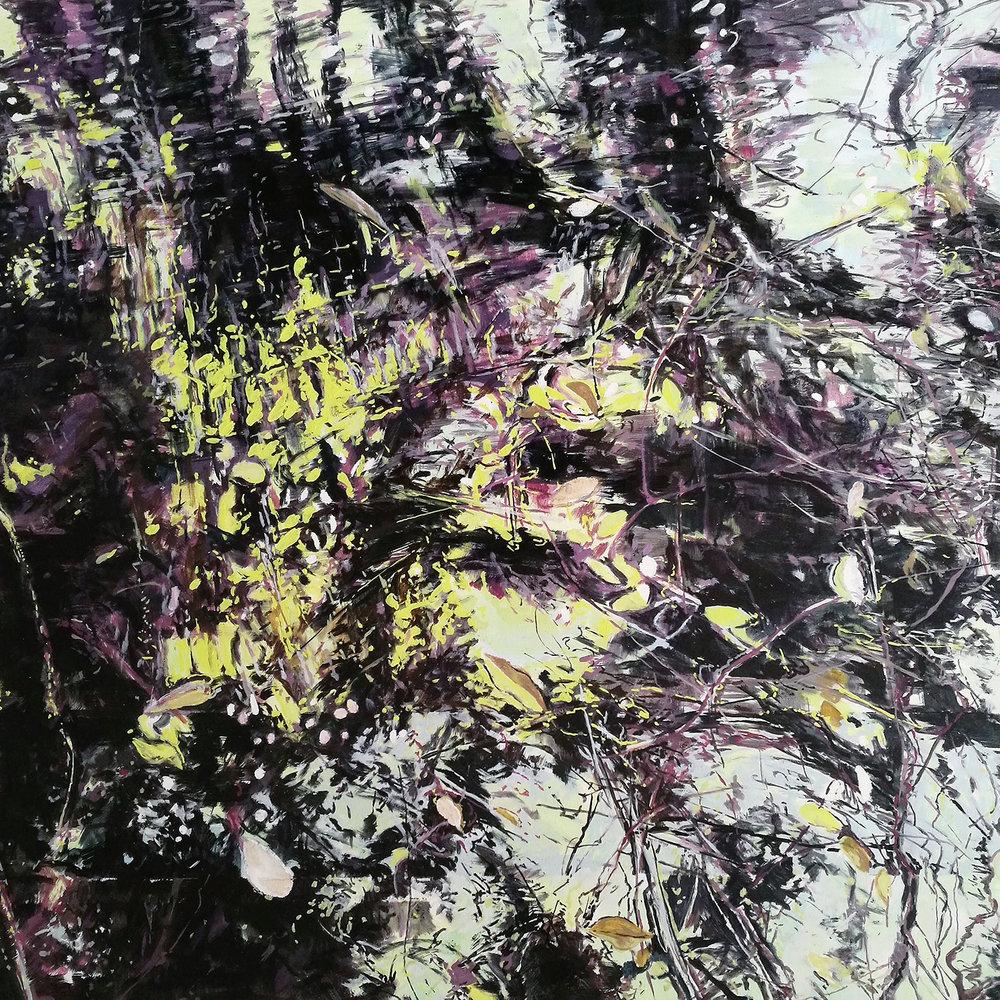 Karen Cronje  Dissolution  Oil on canvas  100 x 100 cm