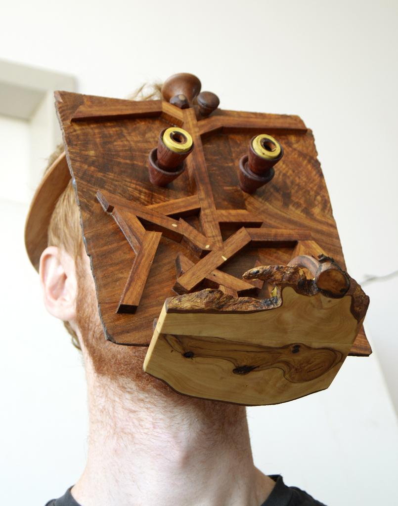Allen Laing  Self Portrait Orang-Utang Mask  Various Woods