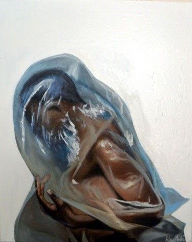 Alex Nkululeko Msibi  Endurance  Oil on canvas  76 x 61 cm