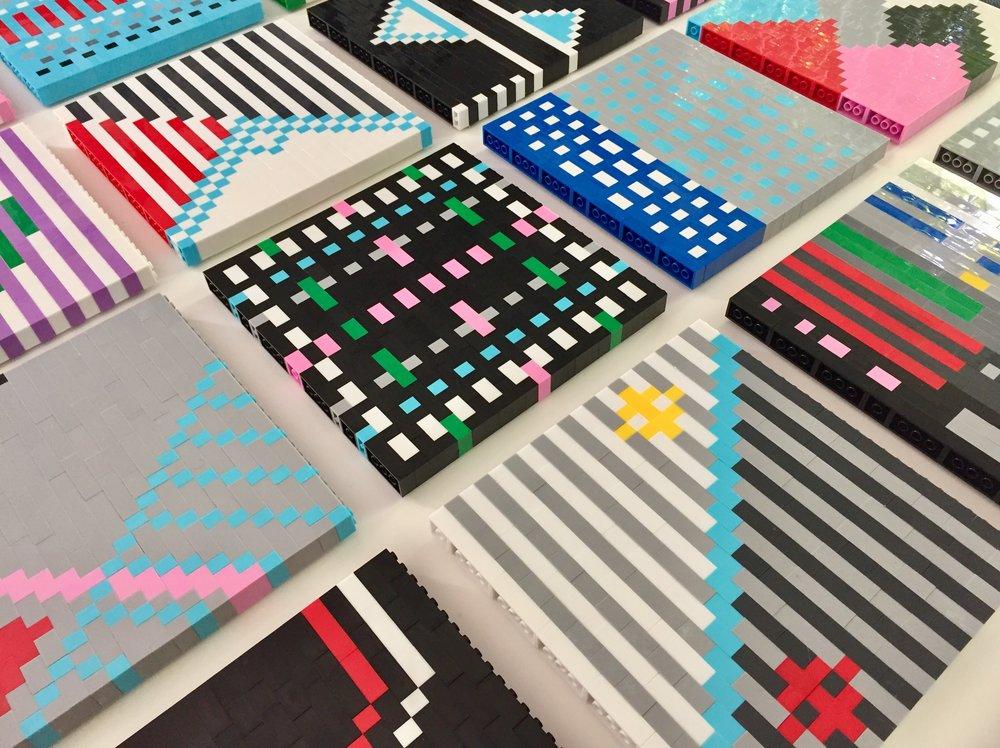 Faatimah Mohamed-Luke  33 Little Originals (Cape Town Series)  ABS plastic building bricks  20 x 20 cm