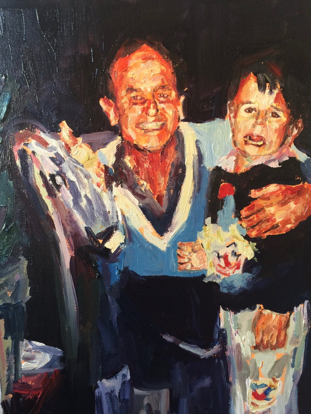 Fanie Buys  2019: Self Portrait with my Father (I call everyone daddy now)., 2017  Oil on canvas