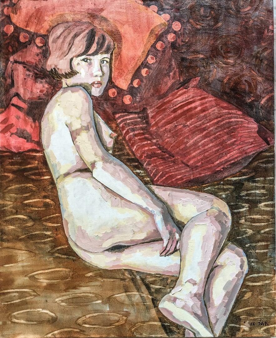 Lizza Littlewort  Rose  Oil on canvas  60 x 50 cm