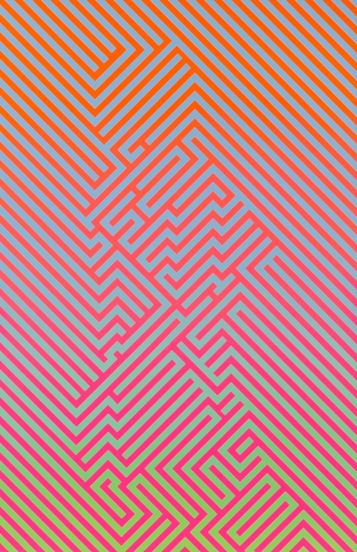 Richard Mason  A New Machine Part 2  Enamel on aluminium  100 x 100 cm