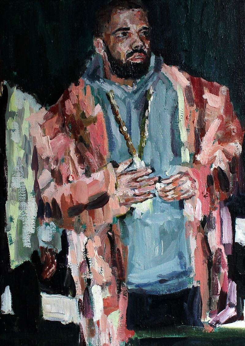 Fanie Buys  2020: If he still uses Hotline Bling reaction gifs it's a deal-breaker (but I would still drop everything for Drake)., 2017  Oil on canvas