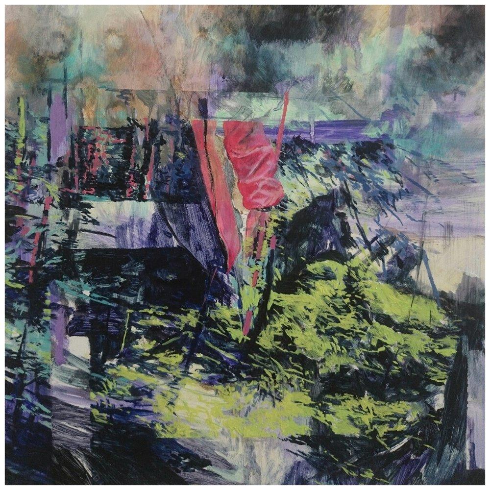 Karen Cronje  Imprecise Topographies  Oil on primed paper  30 x 30 cm