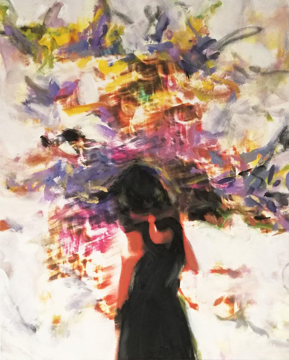 Andrew Hart Adler  'Ode to Joan Mitchell I'  Mixed media on digital print  97 x 77 cm