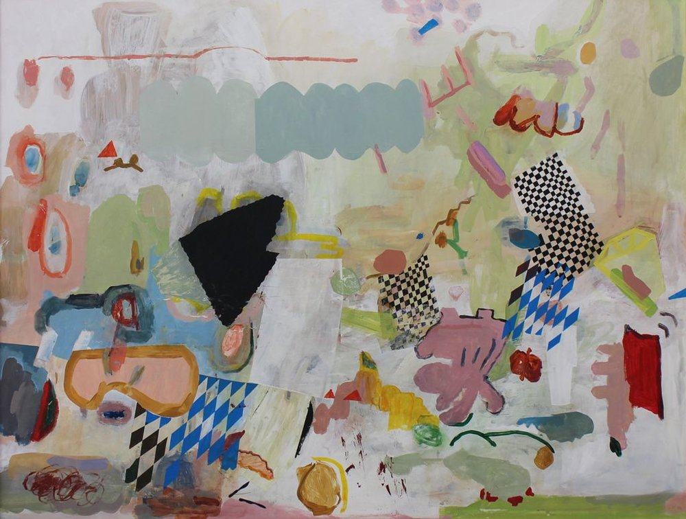 Jeanne Hoffman All that Jazz Oil on canvas 64 x 84.50 cm
