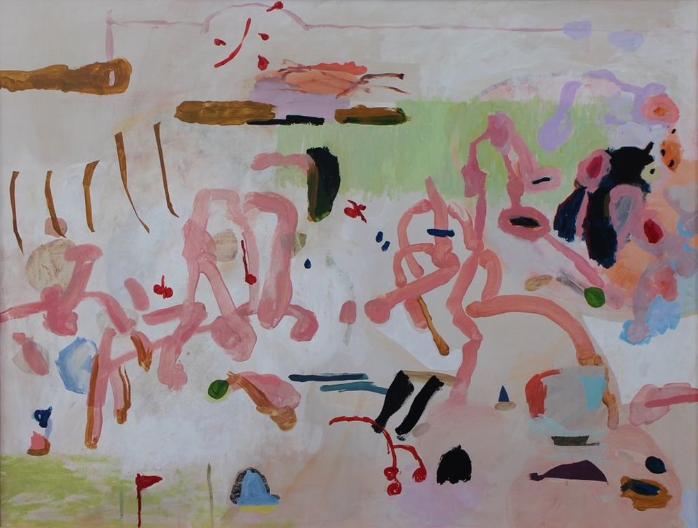 Jeanne Hoffman Radio Burst Oil on canvas 64 x 84.50 cm