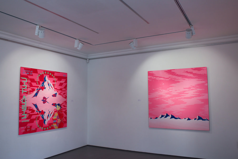 Richard Mason  Installation view of 放浪と学習の年