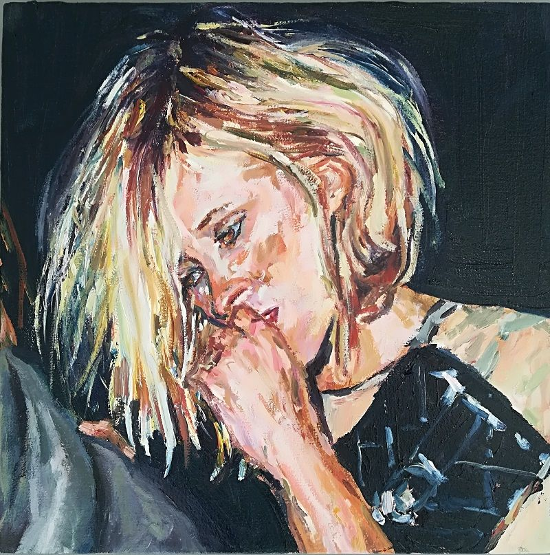 Fanie Buys  Kate Moss  Oil on canvas  40 x 40 cm
