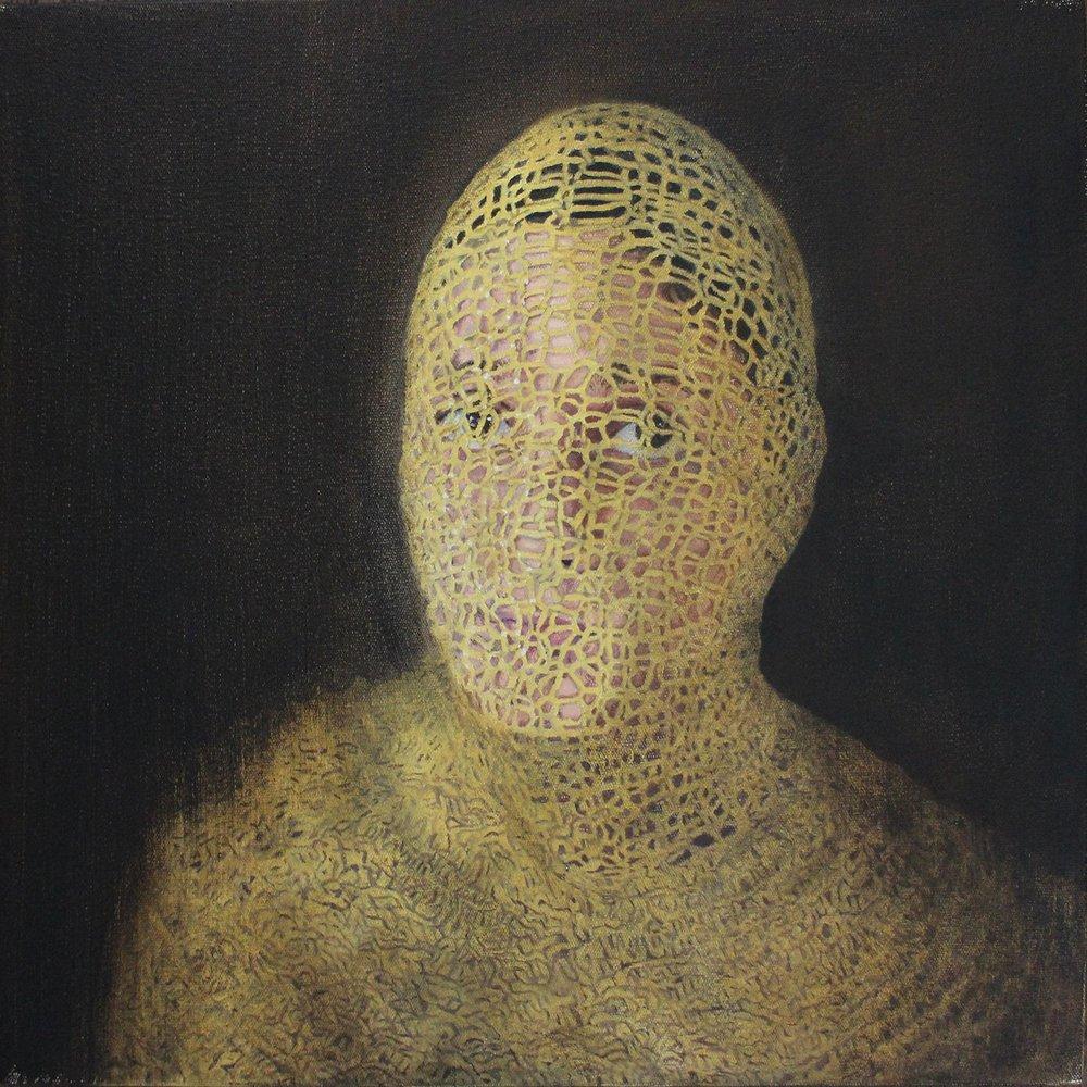 IlenéBothma  All Wrapped Up  Oil on canvas  40 x 40 cm