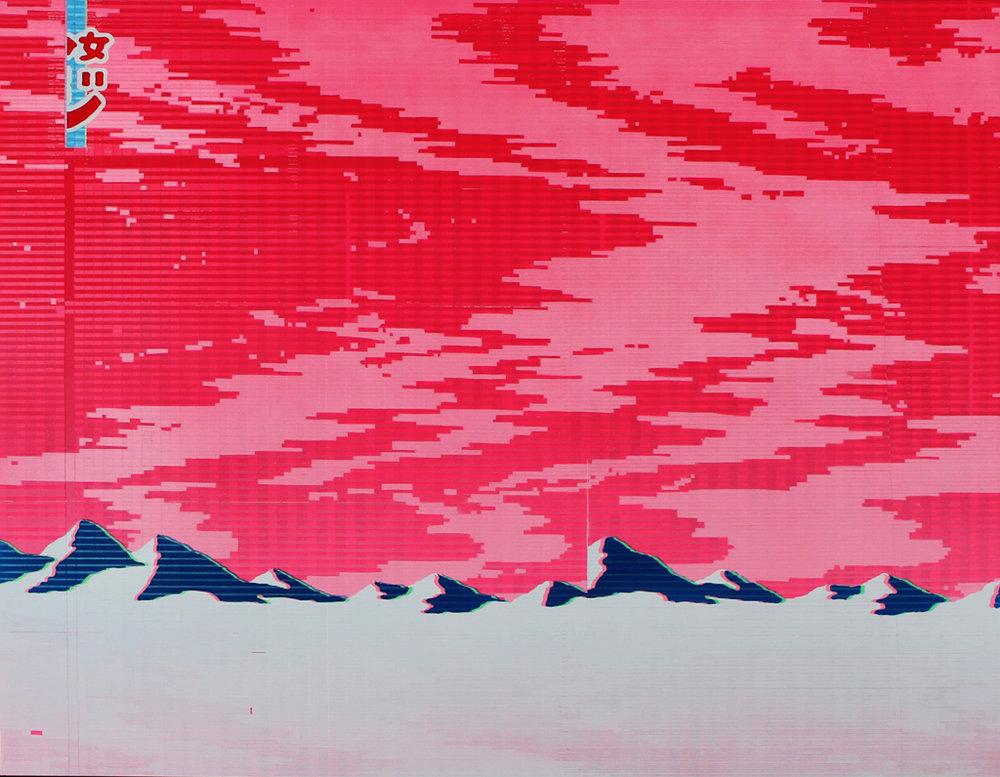 Richard Mason  Evian 250ml  Enamel on Aluminium  120 x 100 cm