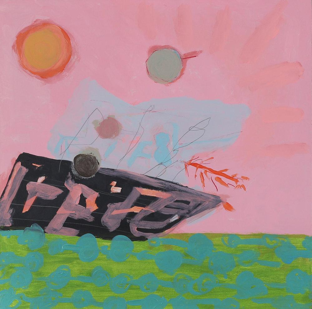 Jeanne Hoffman  The water is fine  Acrylic on board  40 x 40 cm