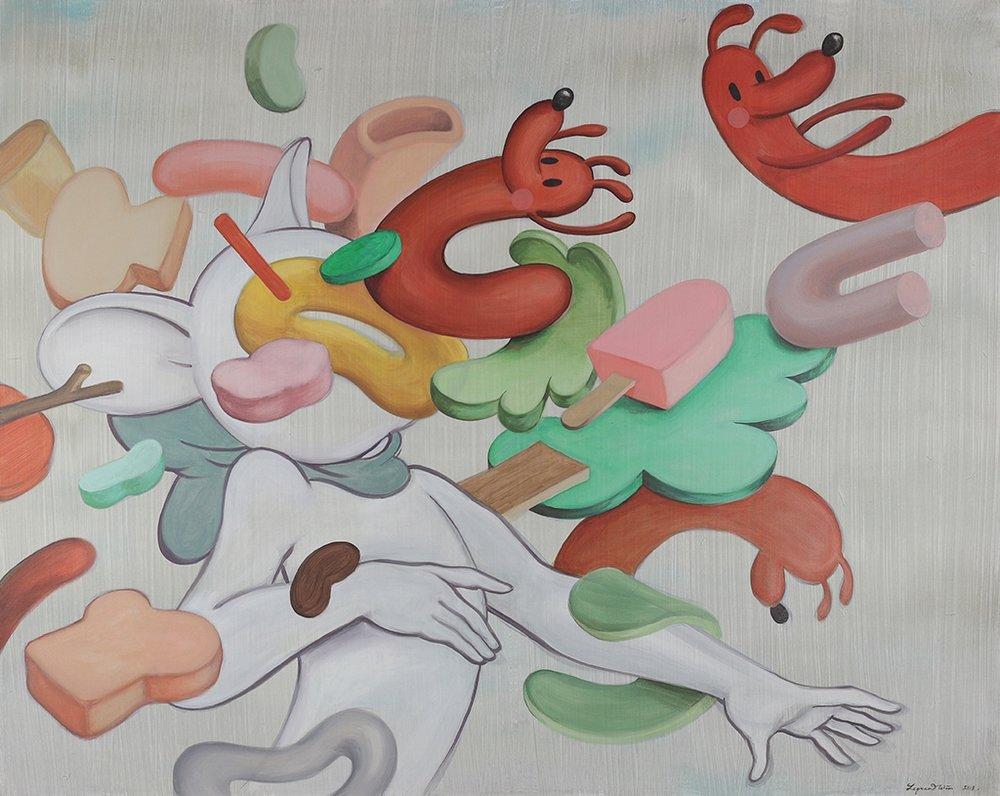 Wim Legrand  Blow some my way  Acrylic on canvas  80 x 100 cm