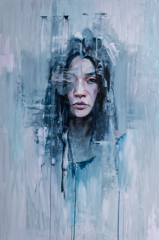 Chris Valentine  Maelstrom  Oil on panel  150 x 100 cm
