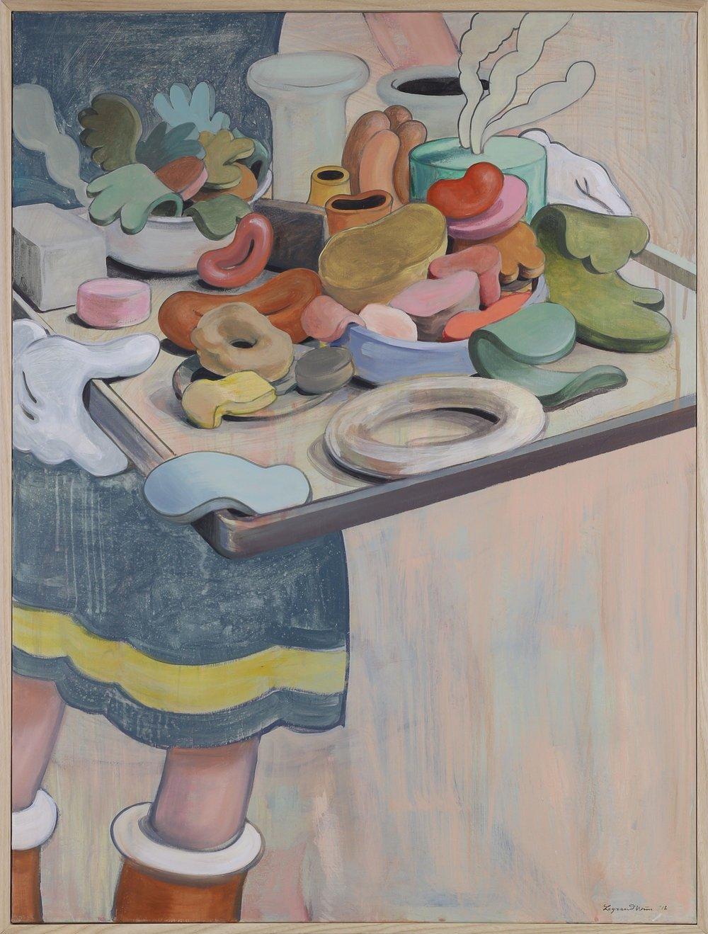 Wim Legrand  Moveable Feast  Acrylic on canvas  80 x 60 cm