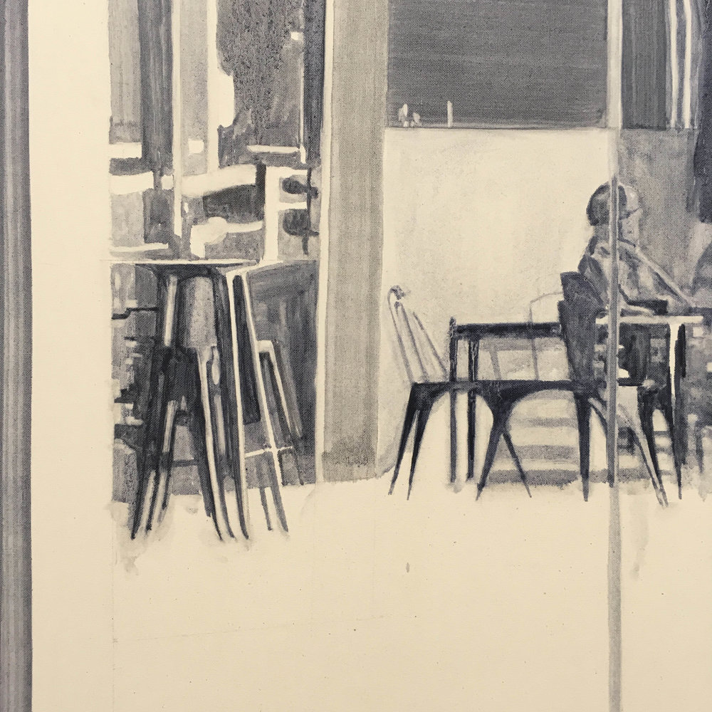 Daniel Nel  Reflection (detail)  Oil on canvas  117 x 84 cm