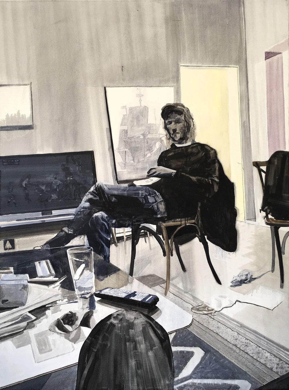 Daniel Nel  Breda Park  Oil on canvas  161 x 120 cm