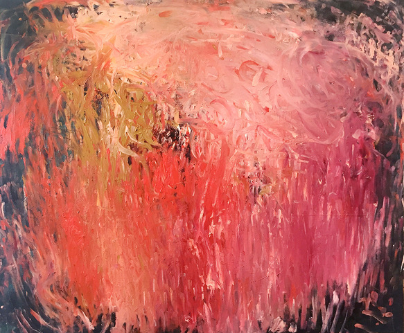 Katherine Bull  Blind Fingers_Calling the Rain  Acrylic &oil on canvas  76 x 91 cm