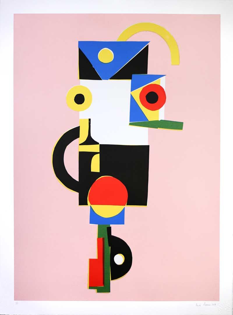 Renée Rossouw  Nomad  Screenprint  76 x 56 cm