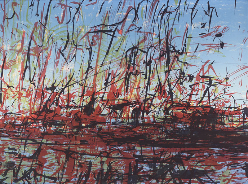 Katherine Bull  Cape Town Harbour  Screenprint  56 x 76 cm