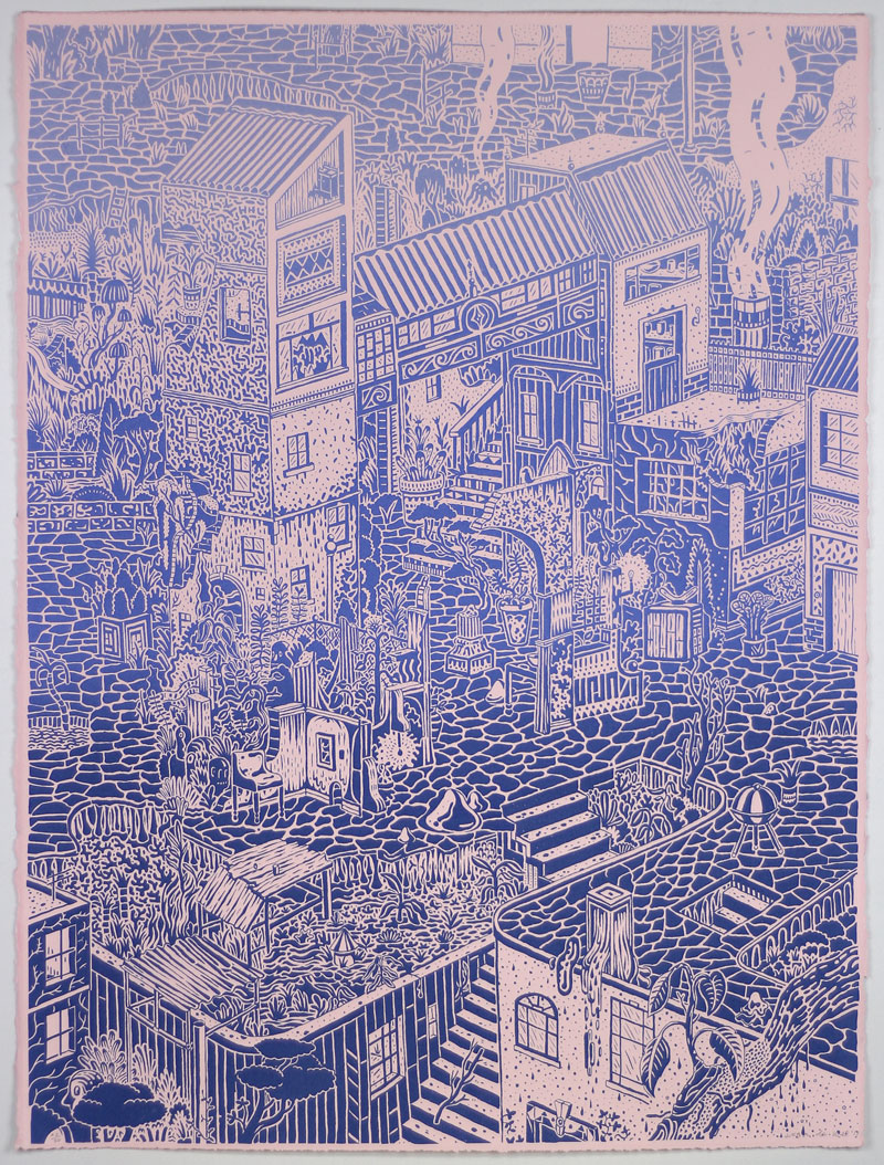 Jean de Wet  Vestibule Ruins  Screenprint  76 x 56 cm