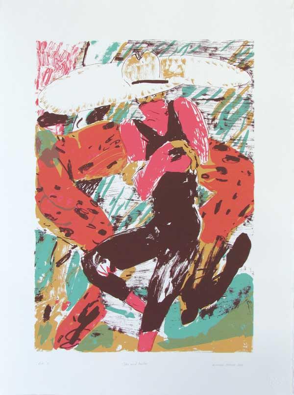 Michael Taylor  The Mind Bender  Screenprint  76 x 56 cm