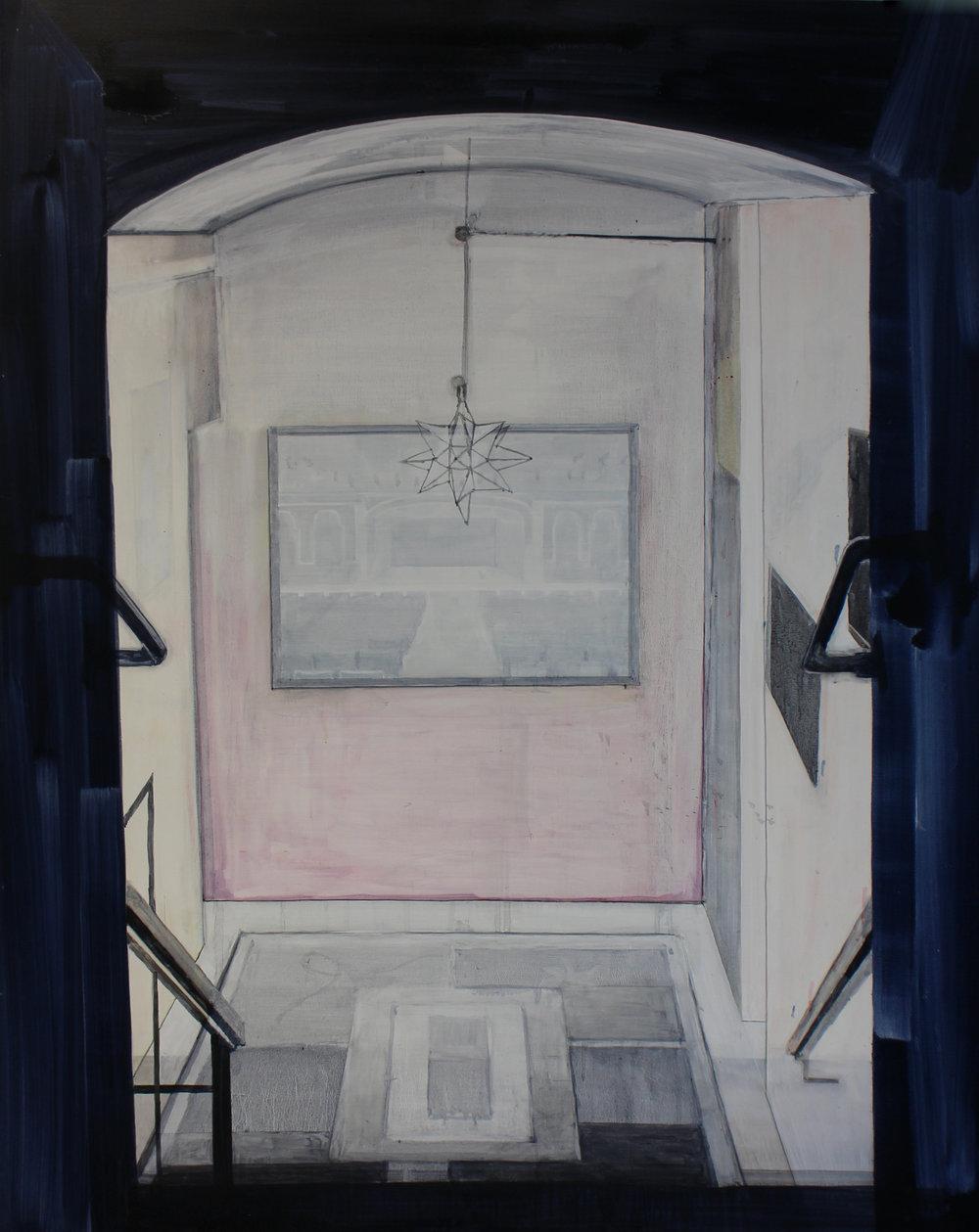 Daniel Nel  Foyer  Oil on canvas  160 x 120.5 cm