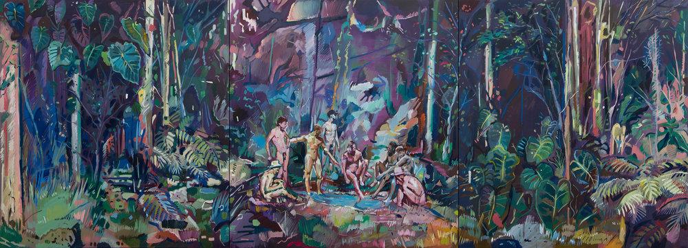 Black Water Pond - Oil on canvas - 291cm x 315m (Triptych of 97cm x 105cm each) .jpg