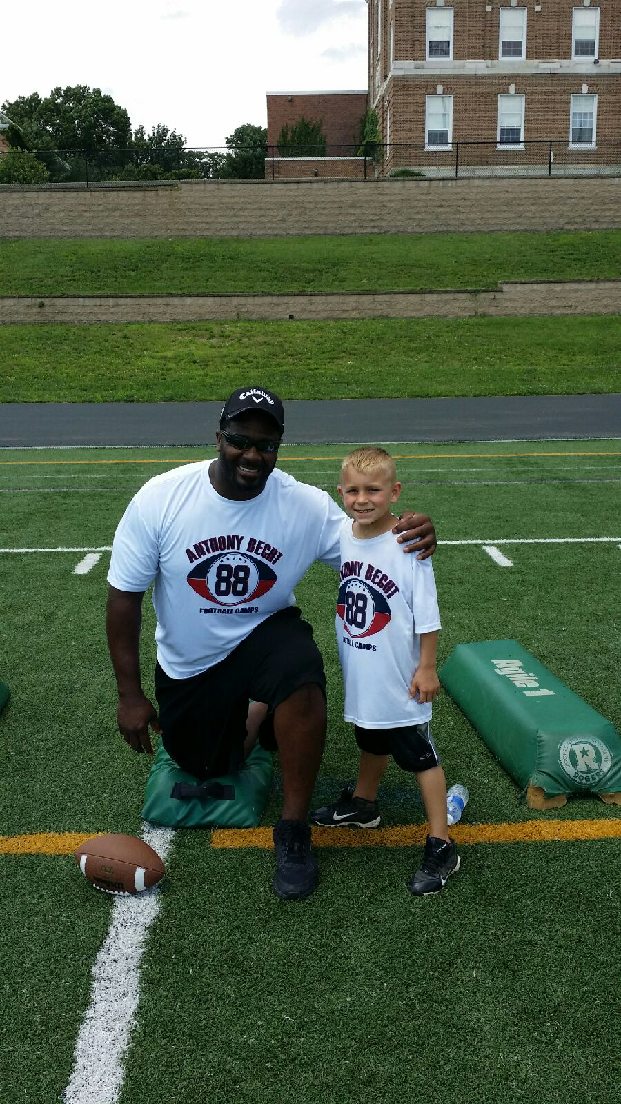 (Former Philadelphia Eagles Linebacker Jeremiah Trotter and Firefighter S. Caroluzzi's son, Sammy)