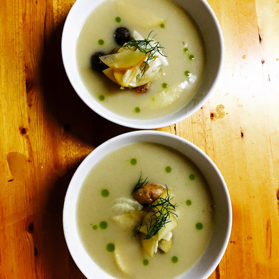 Fennel, Apple, and Potato Soup