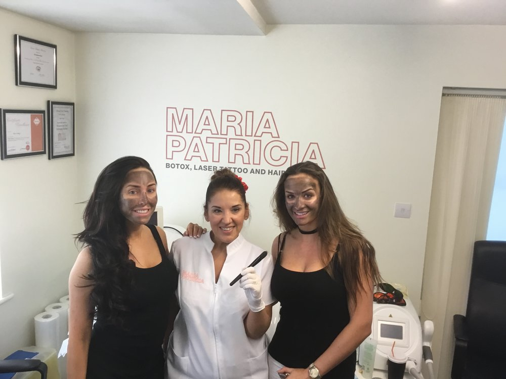 Black carbon is applied to the face, left to dry and then lasered off. This treatment is also called the China doll facial and it is a deep cleanse and blackhead remover. After a few treatments there are anti aging benefits too.
