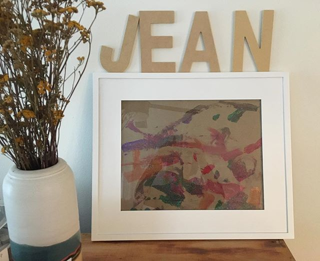 Jean's first framed artwork.