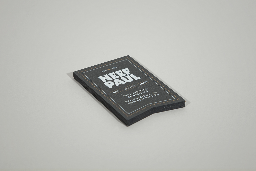 Identity for Neef Paul. Screen printed business card.