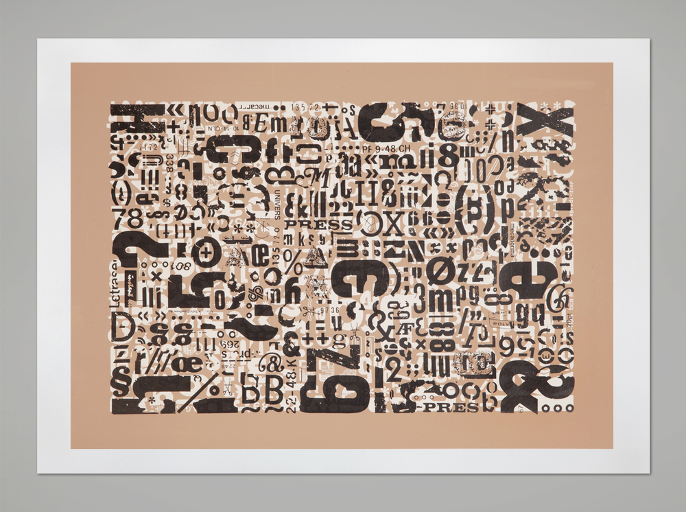 Letraset Boogie Woogie – 2 colors screen print, 60x42 cm, 2012