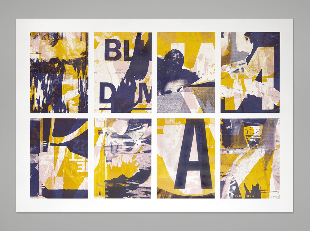 NYC Décollage – 3 colors screen print, 100x70 cm, 2013