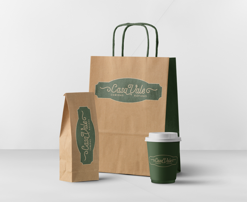 casa vale logo and packaging