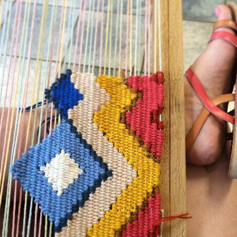 Weaving in progress!