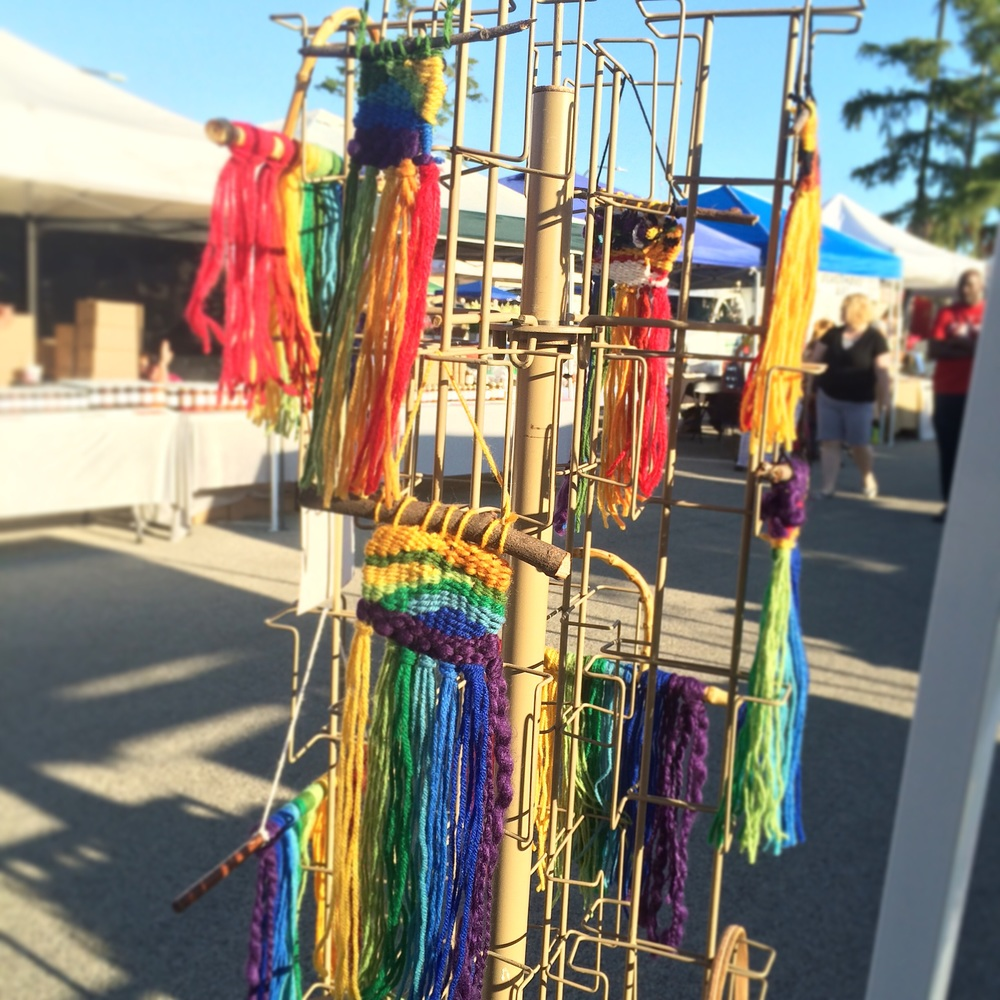 It's a beautiful morning! Don't forget: ALL rainbow weavings and wall hangings are only $10!