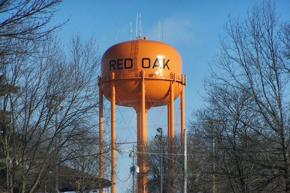 Red Oak, Iowa's Water Tower