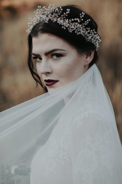 Vintage Haunted Harvest - Wedding Inspiration - Melinda Rose Design, Astilbe Crown - The Blushing Bird