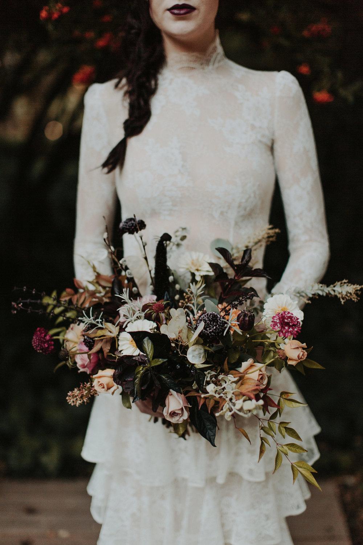 Vintage Haunted Harvest - Wedding Inspiration - Revel Petals Florals - The Blushing Bird