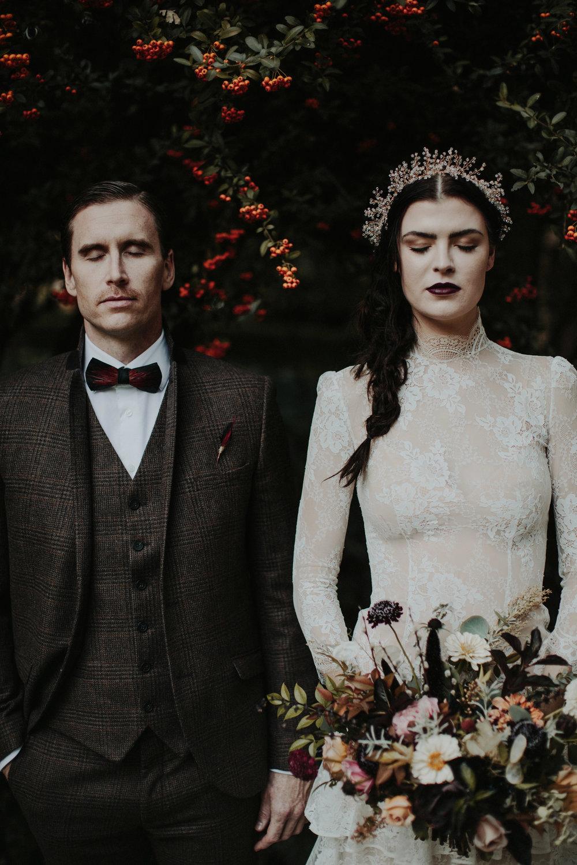 Vintage Haunted Harvest - Wedding Inspiration - The Blushing Bird