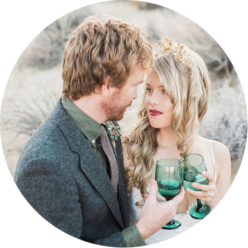 100 Layer Cake - Bohemian Winter Desert Wedding Inspiration